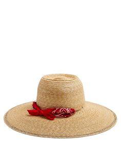 Lola Hats Windsock bandana-print straw hat Raffia Hat a8828cee41fc