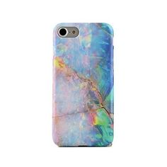 Blue Opal iPhone Case (190 GTQ) ❤ liked on Polyvore featuring accessories, tech accessories, phone cases, iphone sleeve case, iphone cover case and blue iphone case