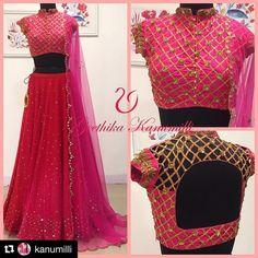 Blouse of my choice Lehenga Designs, Saree Blouse Designs, Blouse Patterns, Indian Wedding Outfits, Indian Outfits, Indian Clothes, Indian Attire, Indian Wear, Indian Blouse