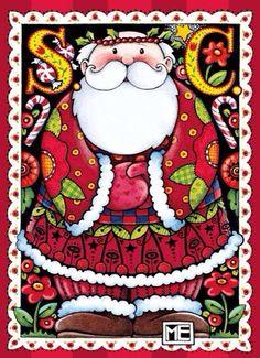 Mary Engelbreit ~ k Mary Christmas, Father Christmas, Christmas Pictures, Christmas Art, All Things Christmas, Vintage Christmas, Christmas Holidays, Christmas Decorations, Mary Engelbreit