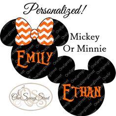 disney fall printable iron on transfer mickey minnie personalized chevron mickey matching family vacation cruise digital clr 1460