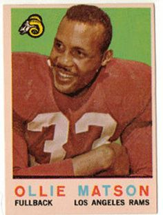 1959 Topps Football Card, Ollie Matson, Los Angeles Rams, Card no 50