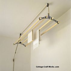 Vintage Suspended Ceiling Clothes Drying Rack | Sheila Maid Clothes Dryer - Self Sufficient Living - Home Goods