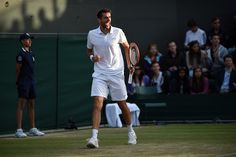 Marin Cilic in action on No.1 Court - Jon Buckle/AELTC