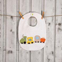 train baby bib embroidered bib for little boy from от cucicreando