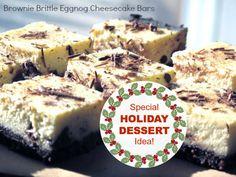 Brownie Brittle Eggnog Cheesecake Bars Recipe