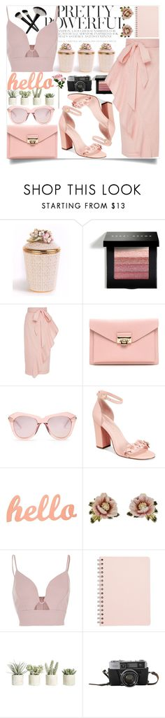 """#318"" by vilte-m ❤ liked on Polyvore featuring Jay Strongwater, Bobbi Brown Cosmetics, Marysia Swim, Karen Walker, Avec Les Filles, Les Néréides, River Island and Allstate Floral"