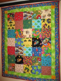 """I Spy"" Quilt for Lit Ray - Quilters Club of America Baby quilt with 5 1/2"" squares"
