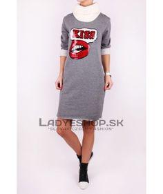 Šaty šedé