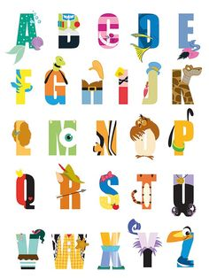 Disney Alphabet Textual Art on Canvas Disney Alphabet, Disney Letters, Alphabet Art, Disney Diy, Disney Theme, Disney Crafts, Cute Disney, Character Letters, Disney Classroom