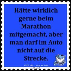 Hätte wirklich gerne beim Marathon mitgemacht, aber man darf im Auto nicht auf die Strecke.