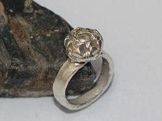 silver flower bud ring - Google Search