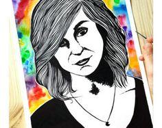 Mein wahre selbst  signiert Fine Art Print  Kunst von MoonArtDreams