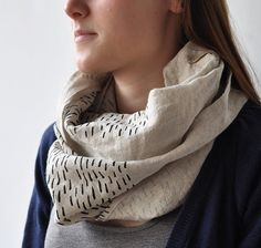 loop scarf - rain I love this shop. So inspiring! credit: bookhouathome