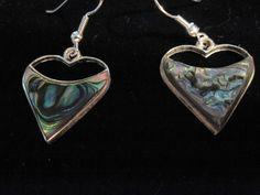 Blue, Drop/Dangle, Silver Plated, Hook, Abalone, Upstream Trading Co.  Earrings #UpstreamTradingCompany #DropDangle