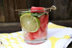 Watermelon Basil Mojito (A beautifull mess)