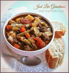 Just Like Grandma's Beef Vegetable Soup
