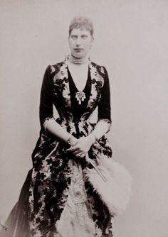 Queen consort Lovisa of Denmark when Crown Princess. 1880s