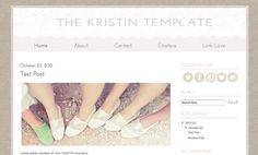 Blogger Template - The Kristin Template, via Etsy.