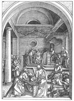 Christ among the Doctors in the Temple - Albrecht Durer
