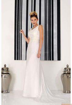 Maßgeschneiderte Schlichte Moderne Brautkleider aus Chiffon mit Applikation