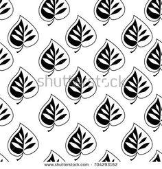 monochrome leaf background, pattern vector illustration, leaves pattern, design for textile