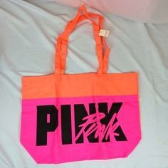 I just discovered this while shopping on Poshmark: VS PINK Orange/Pink beach…