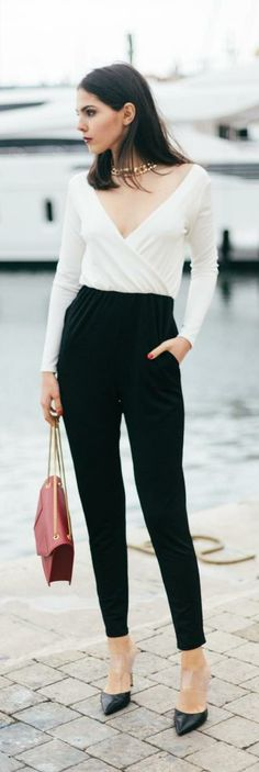 Two-Toned Jumpsuit -   The Golden Diamonds