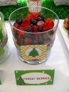 Woodlands Party - Forest Berries - I think you can buy similar sweets at woollies! #woodland #party