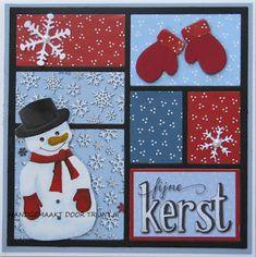 Trijntjes Kaarten: Kerstkaart week 2 Diy Christmas Cards, Xmas Cards, Christmas Snowman, Christmas Gifts, 3d Paper Crafts, Diy And Crafts, Crafts For Kids, Harry Potter Scrapbook, Stampin Up