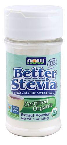 NOW Foods Better Stevia™ Organic Zero Calorie Powdered Sweetener -- 1 oz - Vitacost