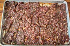Korean BBQ Deer Jerky | Realtree Camo Korean Bbq Pork Jerky Recipe, Pink Curing Salt, Venison Jerky, Jerky Recipes, Wild Game Recipes, Magic Chef, Ginger Juice, Bulgogi, Cooking Instructions