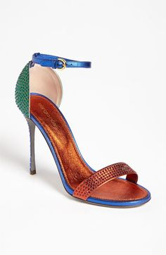Sergio Rossi Ankle Strap Sandal available at Nordstrom Fab Shoes, Cute Shoes, Me Too Shoes, Shoes Heels, Sergio Rossi Shoes, Colorful Shoes, Ankle Strap Sandals, Ankle Straps, Beautiful Shoes