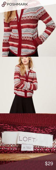 63954f7519 loft cozy sweater zip up cardigan size M VERY nice cardigan sweater jacket  from LOFT.