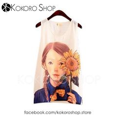 CAMISETAS CUTE CHIFFON - REF: SUNFLOWER_CM/003000    Síguenos en Instagram: @KokoroShopStore Para pedidos o consultas, contactar mediante Facebook:  https://www.facebook.com/kokoroshop.store/     Muchas Gracias  #moda #modamujer #camisetas #woman #girls #verano #summer #summertime #cute #lovely #shopping #tiendas #compras #chicas #outfit #sexy #arty #sunflower #fashionista #tanktops #girasol