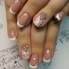 Pictures of french manicure nail art designs. French manicure nail art designs 2017 and French Nails, French Manicure Acrylic Nails, French Manicure Designs, Manicure And Pedicure, French Manicures, Luv Nails, Pretty Nails, Nail Art Design 2017, Nail Art Designs