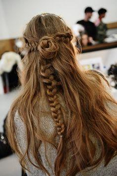 Bun & braid.