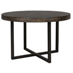 Rustique Dining Table RND -Bark Brown $899.00 Urban Barn