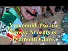easy glass jewelry papermart (glass marbles + foil candy wrappers & nail polish) - YouTube