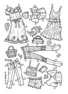 Karen`s Paper Dolls: Susanne 1-6 Paper Doll to Colour. Susanne 1-6…