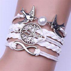 Infinity Bird & Tree Bracelet