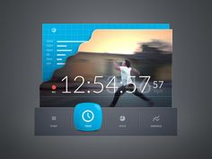 Sport app interface