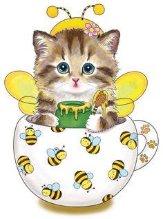 Cute Little Kittens, Kittens Cutest, Teacup Kitten, Cat Coloring Page, Coloring Book, Cat Design, Book Design, Cat Art, Cute Cartoon