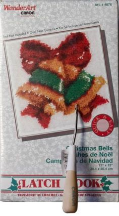 WonderArt-Latch-Hook-Kit-Christmas-Bells-12-x-12-By-Caron-4678-Sealed