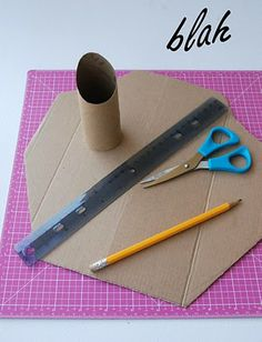 blah to TADA!: A Necklace Stand, made from cardboard.  Site also has tons of other inexpensive fix-up tricks.