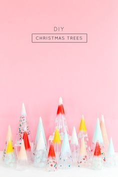 DIY Christmas trees: confetti domes