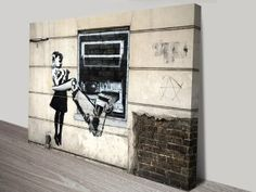 Banksy Robot Artwork on Canvas Banksy Art, Graffiti Art, Canvas Prints Australia, Banksy Canvas Prints, Artist Wall, Good Day Song, Art Prints For Sale, Black And White Pictures, Online Art