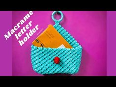 DIY Macrame letter holder cum simple mobile hanger - YouTube