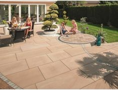 Buy Marshalls Fairstone Sawn Versuro King Size Garden Paving from Turnbull, to add a contemporary look to your garden. Paving Slabs, Paving Stones, Garden Paving, Marshalls, King Size, Natural Stones, Patio, Outdoor Decor, Nature
