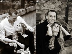 Christina & Joe's October 2015 #engagement #portrait at Natirar! | photo by deanmichaelstudio.com | #fall #dog #doxie #ring #engaged #love #kiss #photography #DeanMichaelStudio